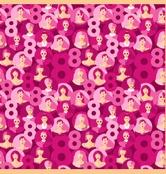 international women s day seamless pattern vector image