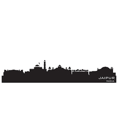 Jaipur India skyline Detailed silhouette vector image