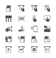 Kiosk flat icons vector