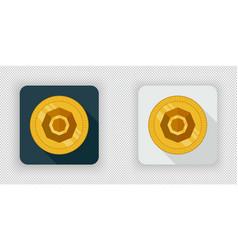 Light and dark komodo crypto currency icon vector