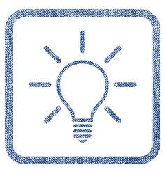 light bulb fabric textured icon vector image