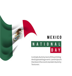 mexico national day template design vector image