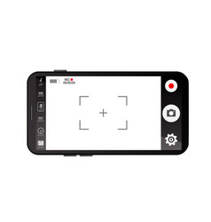 Mobile viewfinder video vector