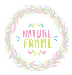 nature frame for your design with flowers vector image
