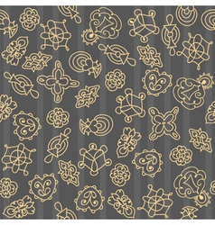 Ornate floral seamless hand drawn pattern vector image