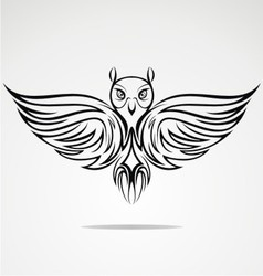 Owl Bird Tribal vector image