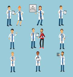 Practitioner young doctors set hospital medical vector