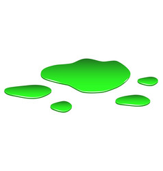Puddle toxic substance spill green chemical vector