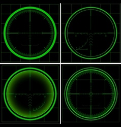 Radar screen or sniper sight vector