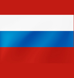 russian national flag with wavy texture vector image