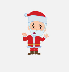santa claus makes a gesture of tired resignation vector image
