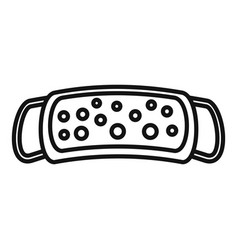 Sauna washcloth icon outline style vector