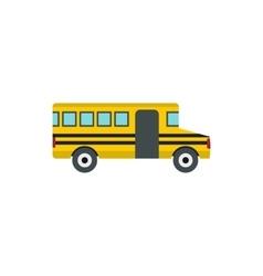 School bus icon flat style vector image vector image