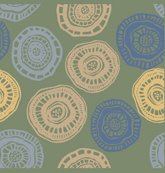 seamless pattern with aborigine flowers on vector image