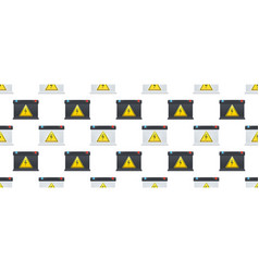 seamless pattern with car battery isolated on long vector image