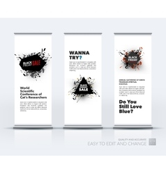 set of modern roll Up Banner stand design vector image