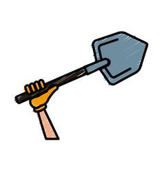 shovel construction tool vector image