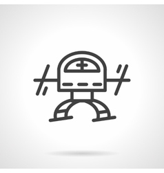 Simple black line copter icon vector image