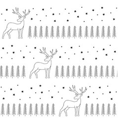 simple classic xmas seamless pattern vector image