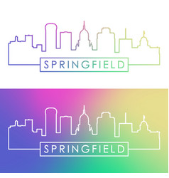 springfield skyline colorful linear style vector image
