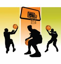 star basketball vector image vector image