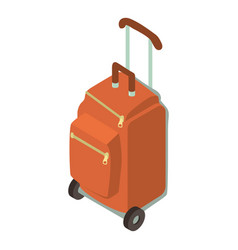 suitcase wheel icon isometric 3d style vector image