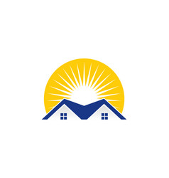 sunlight real estate logo icon design vector image