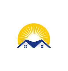 sunlight real estate logo icon design vector image