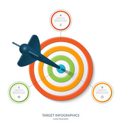 target infographic banner with 3 options vector image