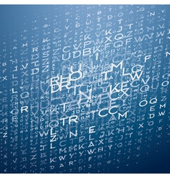 Technological Background with Letters vector image