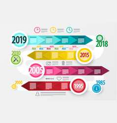 timeline - technology roadmap colorful business vector image