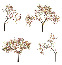 Tree with Autumn Leafage vector