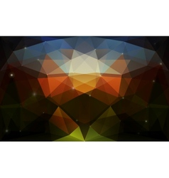 Triangular colorful dark texture vector image
