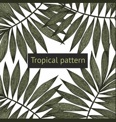 Tropical branches background for sale vector