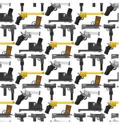 weapons guns pistols submachine assault rifles vector image