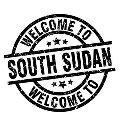 Welcome to south sudan black stamp vector