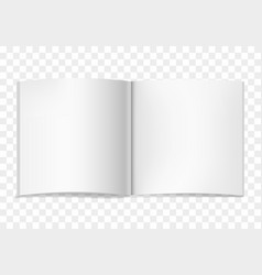 white realistic square opened book vector image