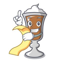 with menu irish coffee mascot cartoon vector image