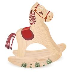 Wood horseN vector