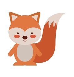 woodland chipmunk animal character cute icon vector image