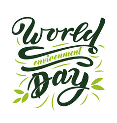 World enviroment day vector
