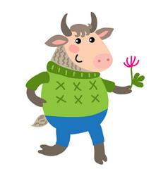 cute cartoon goat vector image