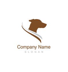 jack russel dog logo vector image vector image
