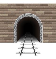 railway tunnel 01 vector image vector image