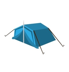 tent camping isolated icon design vector image