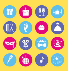 entertainment and shopping icon set vector image