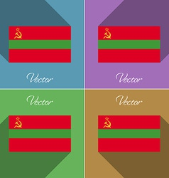 Flags Transnistria Set of colors flat design and vector image vector image