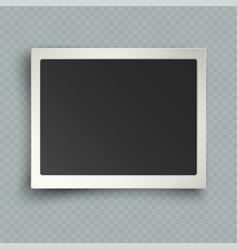 retro realistic horizontal blank instant photo vector image