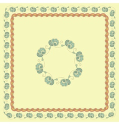 seamless floral spring frames vector image vector image