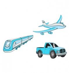 transport cartoons vector image